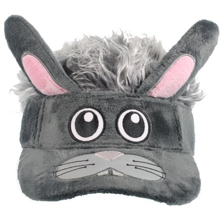 PLUSH BUNNY FACE VISOR - Grey Flair Hair - GAG COSTUMES](Rick Flair Costume)