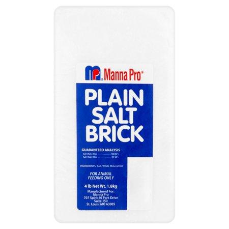 (2 Pack) Manna Pro Plain Salt Brick, 4 lb