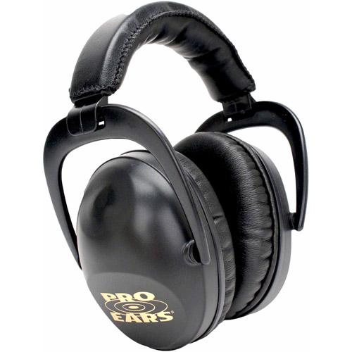 Pro Ears Standard Hearing Protection Ultra Sleek, NRR 26, Black