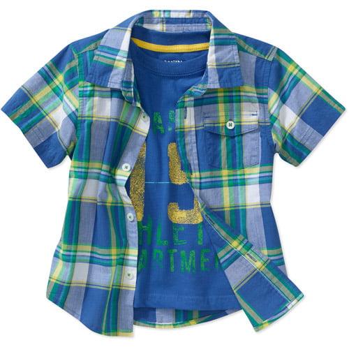 Healthtex Baby Boys' Woven 2fer Shirt