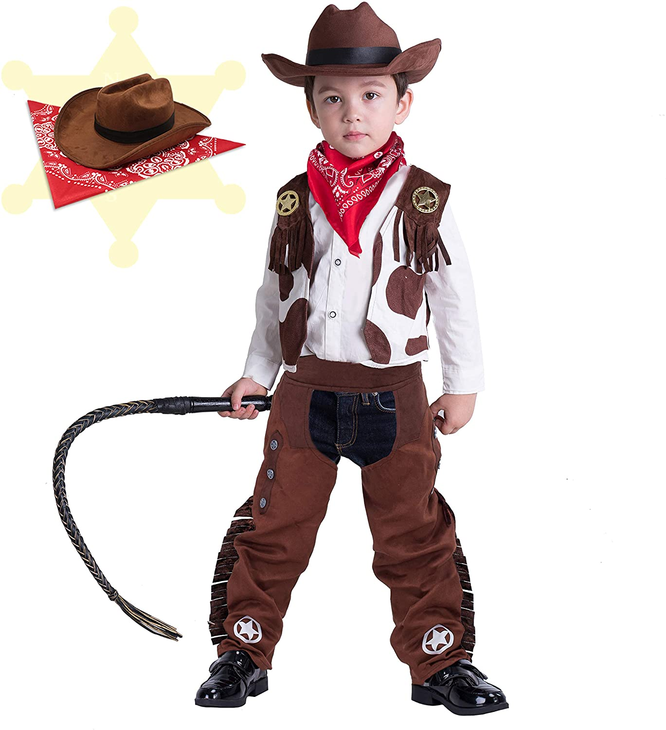 The Dreidel Company Cowboy Hat Western Hat Party Favors Pretend Play Dress Up Costume Clothes for Kids
