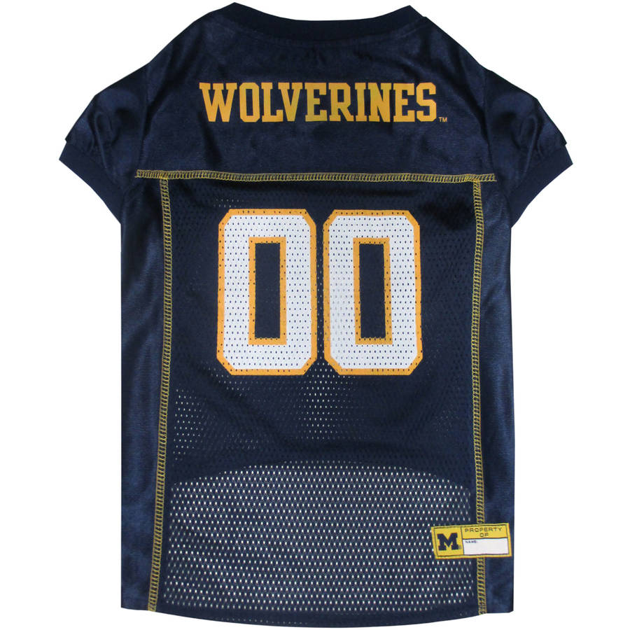 Pets First College Michigan Wolverines Collegiate Dog Jersey, Available in Various Sizes
