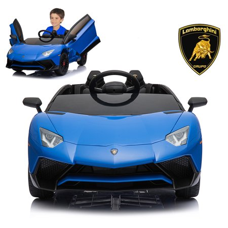 Lamborghini Electric Ride On Car With Remote Control For Kids | 2019 Latest Model Aventador SV Roadster LP750-4 12V Power Battery Official Licensed Kid Car To Drive With Openable Doors - Electric Car Models