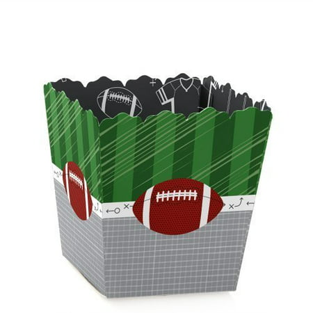 End Zone - Football - Party Mini Favor Boxes - Baby Shower or Birthday Party Treat Candy Boxes - Set of 12](Football Birthday)