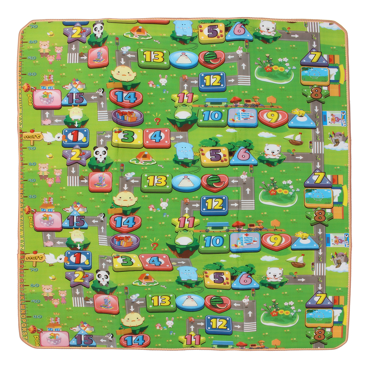 2mx1.8m Double Sides Baby Kids Play Mat Floor Rug Crawling Carpet Picnic Blanket