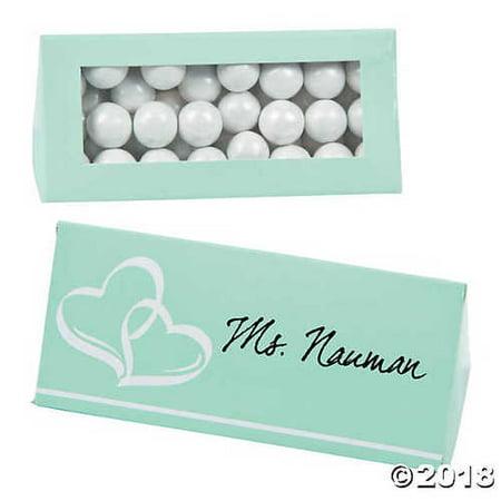 Mint Green Wedding Place Card Favor Boxes](Mint Wedding)