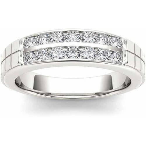Imperial 3/4 Carat T.W. Diamond Men's 14kt White Gold Wedding Band