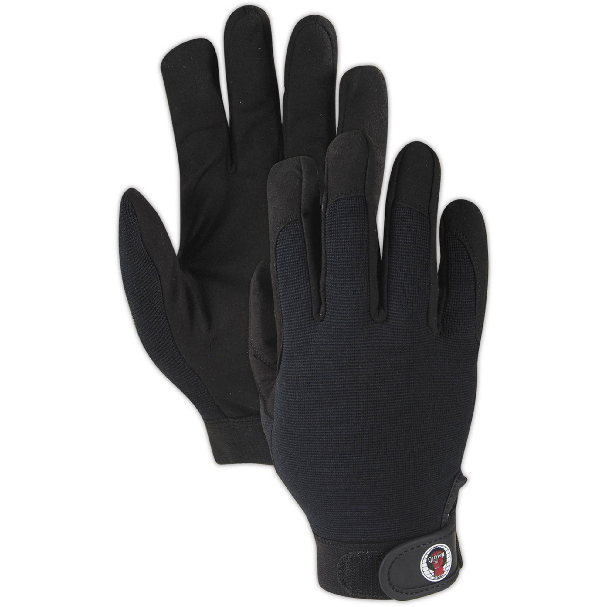 Magid Glove AG7000TM RoadMaster Work Glove with Spandex Back and Leather Palm, Medium