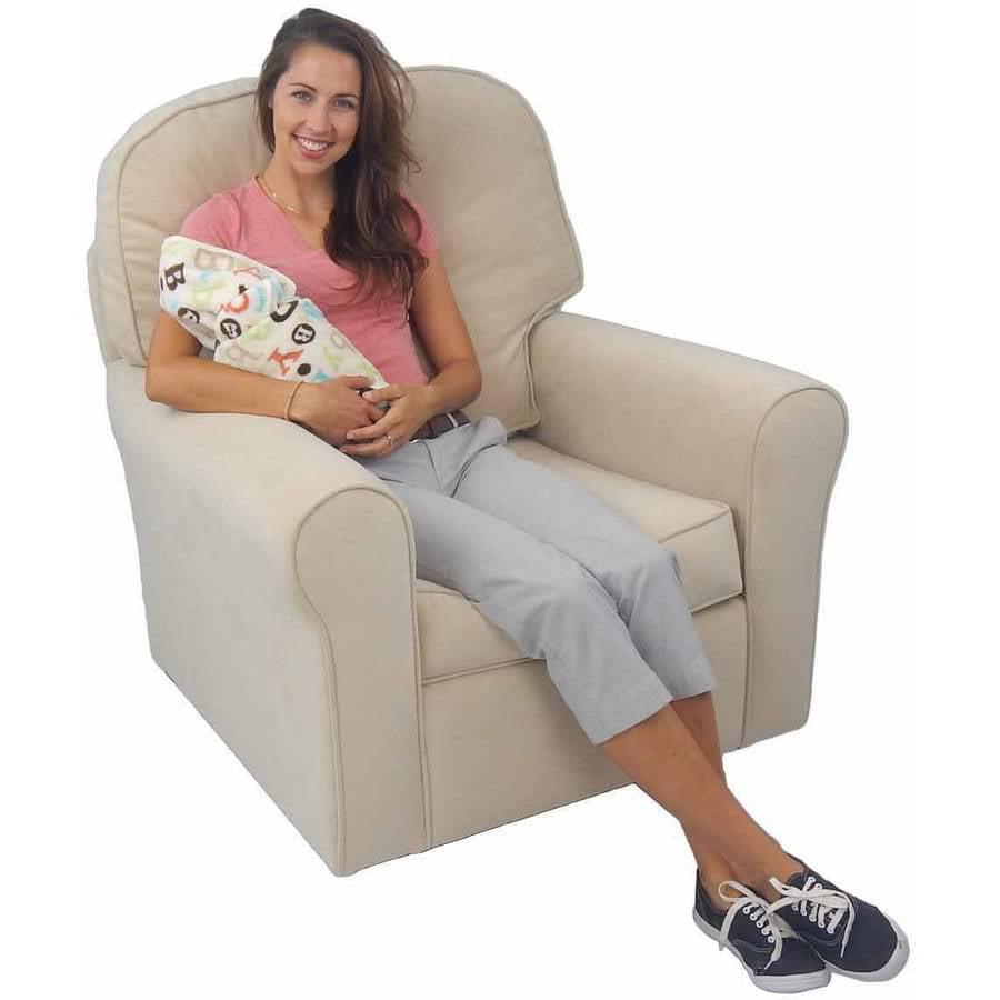 Comfy Cozy Glider, Buckwheat Velvet