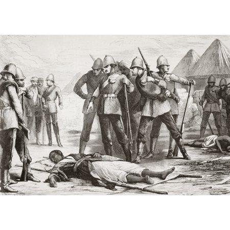 The Body Of Emperor Tewodros Ii Of Ethiopia Known As Theodore After His Suicide At The End Of The Expedition To Abyssinia 1868 From Lunivers Illustre Published In Paris In 1868 Canvas Art - Ken