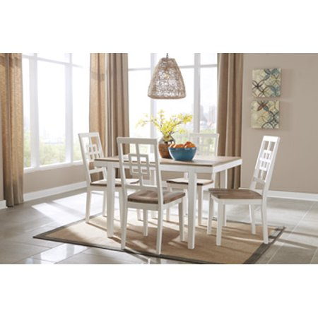 Brovada D298-225 Rectangle Dining Room Table Set with 48 ...