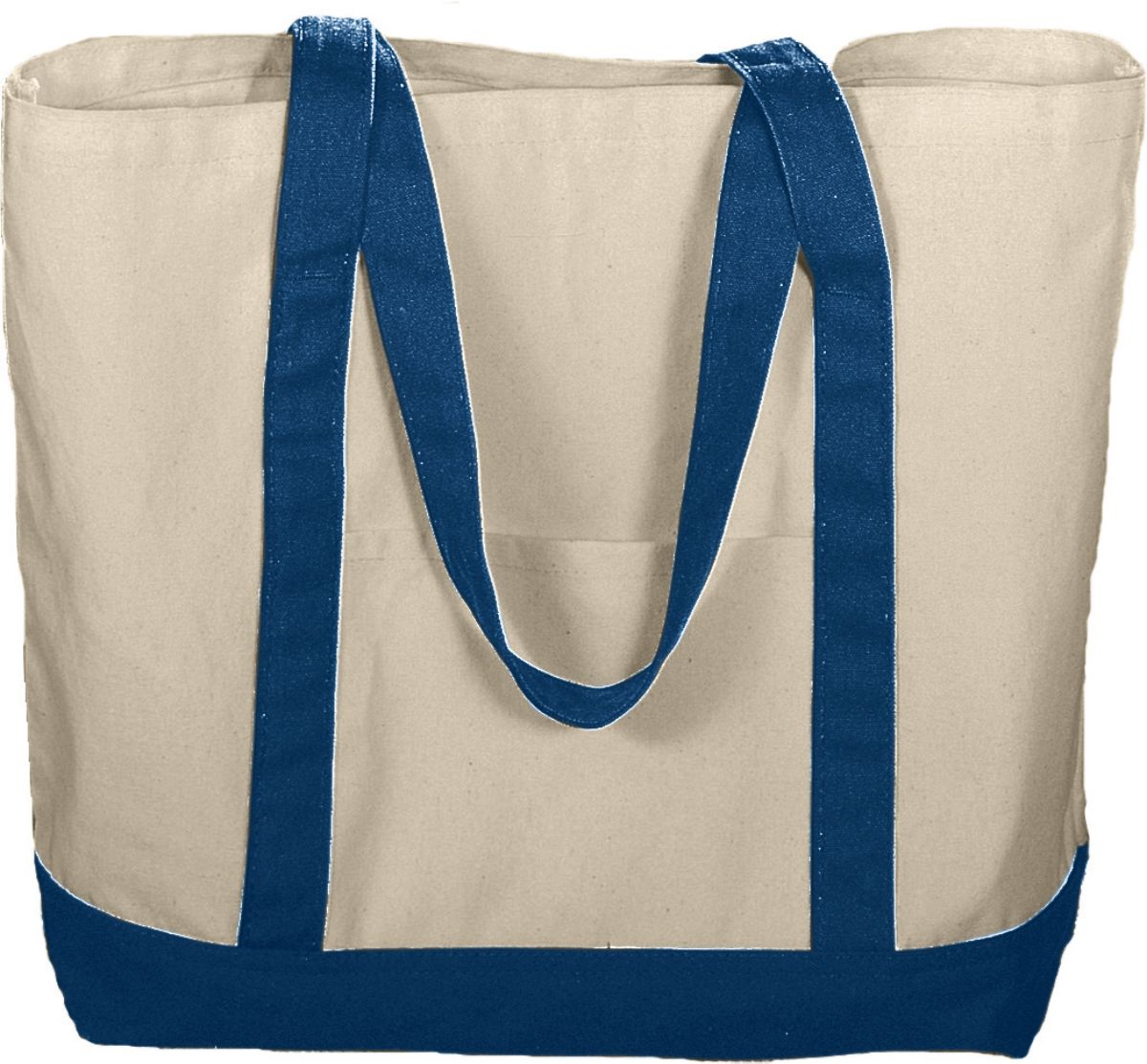 625 Boater Tote NATURAL/NAVY OS
