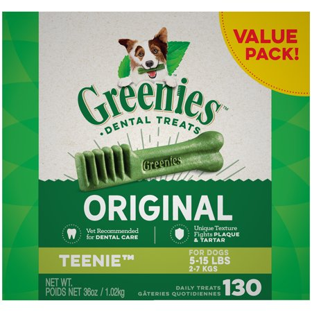 GREENIES Original Teenie Natural Dental Dog Treats, 36 oz. (Pomeranian Treat)