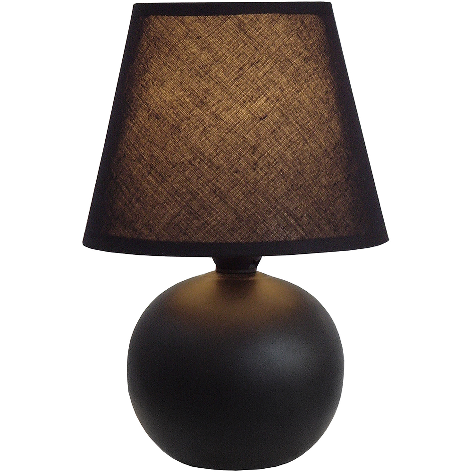 Simple Designs Mini Ceramic Globe Table Lamp
