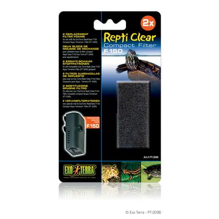 Exo Terra Repti Clear Replacement Foam Block, 2-Pack Clear Replacement Foam