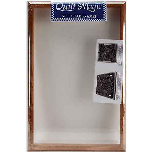 Quilt Magic 12-Inch by 19-Inch Oak Frame