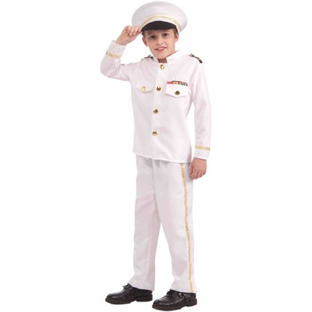 Child United States Navy Admiral Yacht Captain Costume