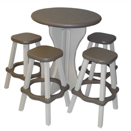 Leisure Accents 5 Piece Bar Height Dining Set