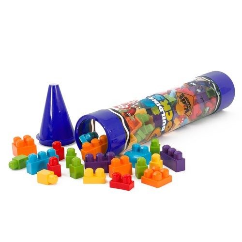 "Crayola Kids@Work 80-Piece Blocks in 36"" Giant Crayon Tube, Blue"