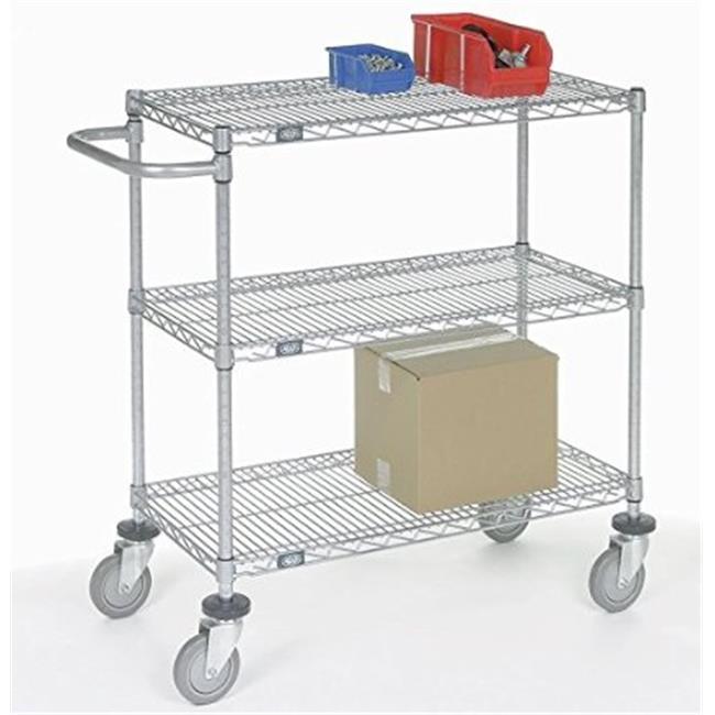Nexel Industries SC18483 Adjustable Wire Shelf Cart, Chro...