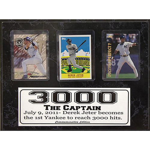MLB Derek Jeter 3-Card Plaque, 9x12
