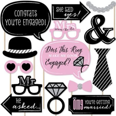 Engagement Photo Props (OMG, You're Getting Married! - Engagement Photo Booth Props Kit - 20)