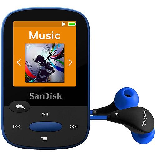 Refurbished SanDisk SDMX24-008G-A46B Clip Sport 8GB MP3 Player, Blue