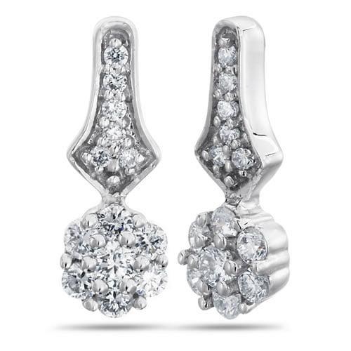Nakshatra, 18K White Gold, Diamond Fashion Earrings, 1/4 ctw.