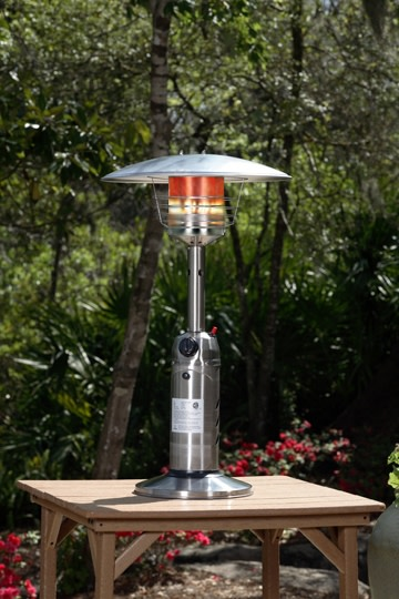 Silver Stainless Steel Outdoor Garden Table Top Patio Heater