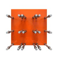 9 Bottle Acrylic Peg Wine Racks (Orange)