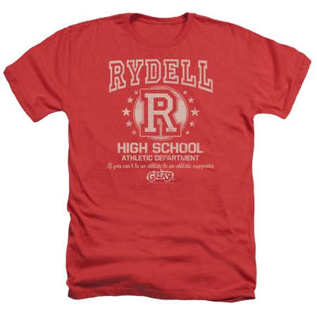 Grease Movie Rydell High Adult Heather T-Shirt Tee](Grease Attire For Womens)