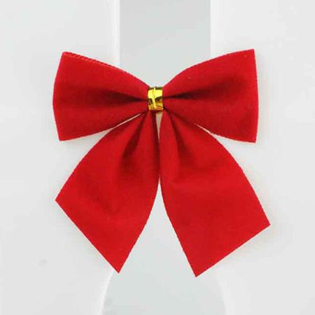 AkoaDa 24 Pcs Celebrate A Holiday Red Christmas Wreath Bow Great for Christmas Garland, Large Gifts, Parties and More Indoor or Outdoor Christmas Decorations ()