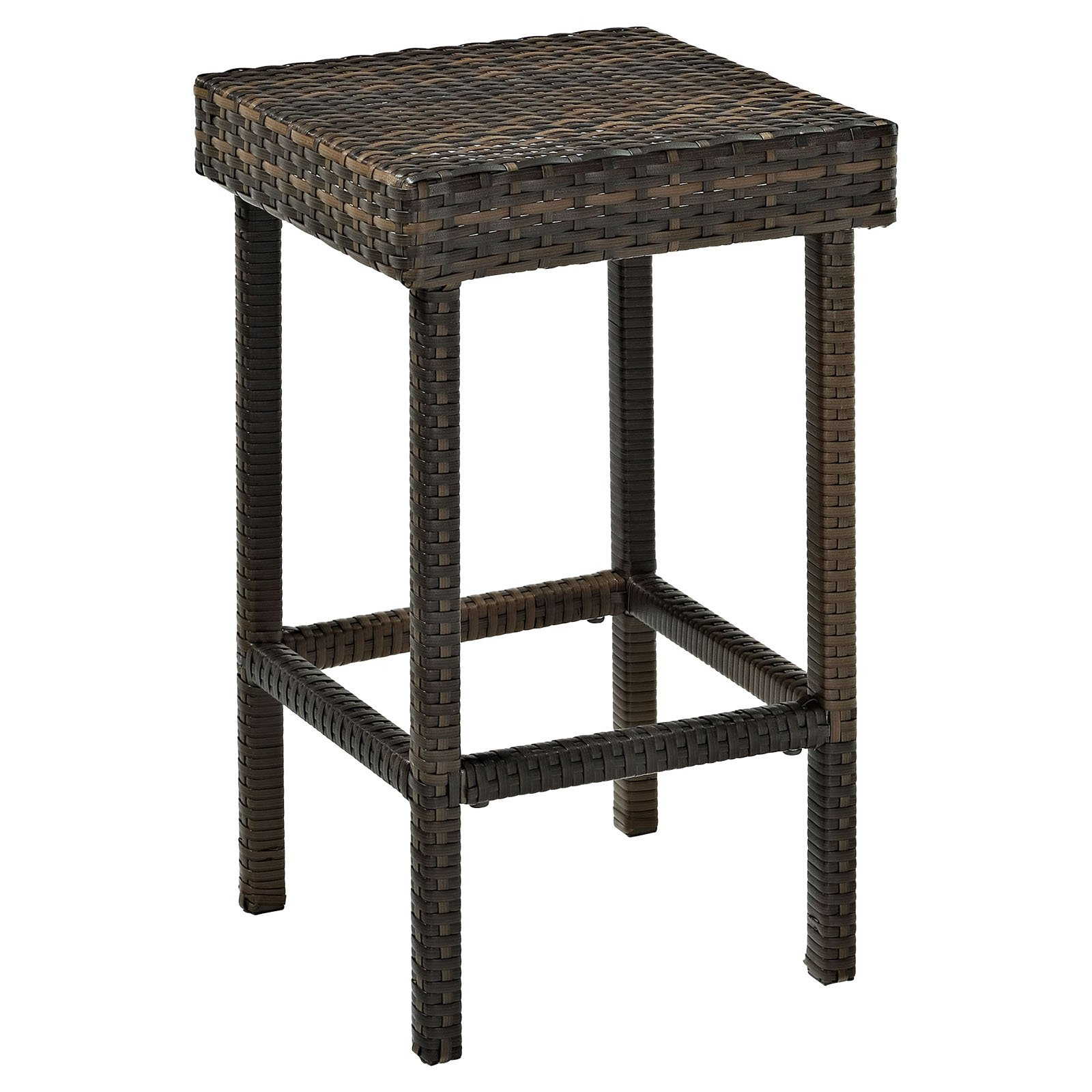 Crosley Palm Harbor Outdoor Wicker Counter Height Stool, Set of 2