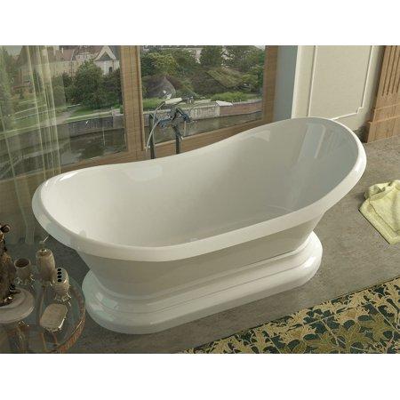 Oval Soaker Tub - Midas 34 x 71 x 18 in. Oval Freestanding Soaker Bathtub