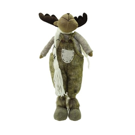 20 Gray and Brown Standing Boy Moose Decorative Christmas Tabletop Figure