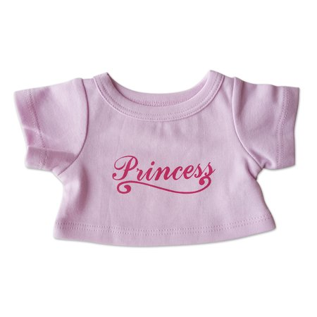 "Princess T-Shirt Outfit Teddy Bear Clothes Fits Most 14"" - 18"" Build-a-bear and Make Your Own Stuffed Animals"