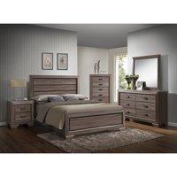 K&B Furniture Light Brown Wood Bedroom Chest