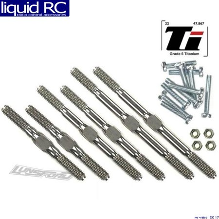 Lunsford Racing Titanium Turnbuckle (Lunsford Racing 2731 4mm Titanium Turnbuckle Kit for Traxxas Stampede)