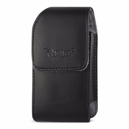 Leather Treo Smartphone - VERTICAL LEATHER POUCH TREO 650-BLACK WITH MEGNETIC AND BELT CLIP (4.4X2.3X0.9 INCHES)