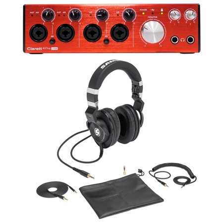 focusrite clarett 4pre usb audio interface for pc mac samson lambskin headphones. Black Bedroom Furniture Sets. Home Design Ideas