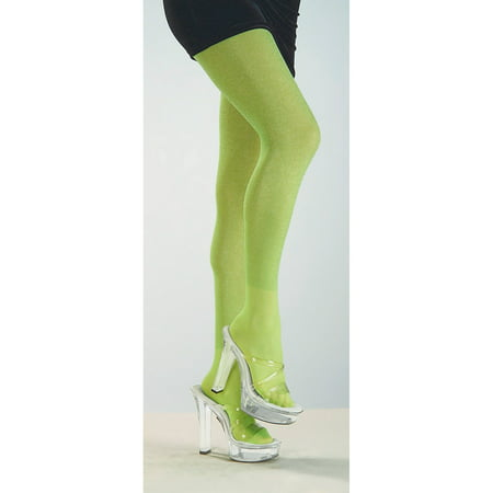 Womens Lime Green Tights Halloween Costume Accessory