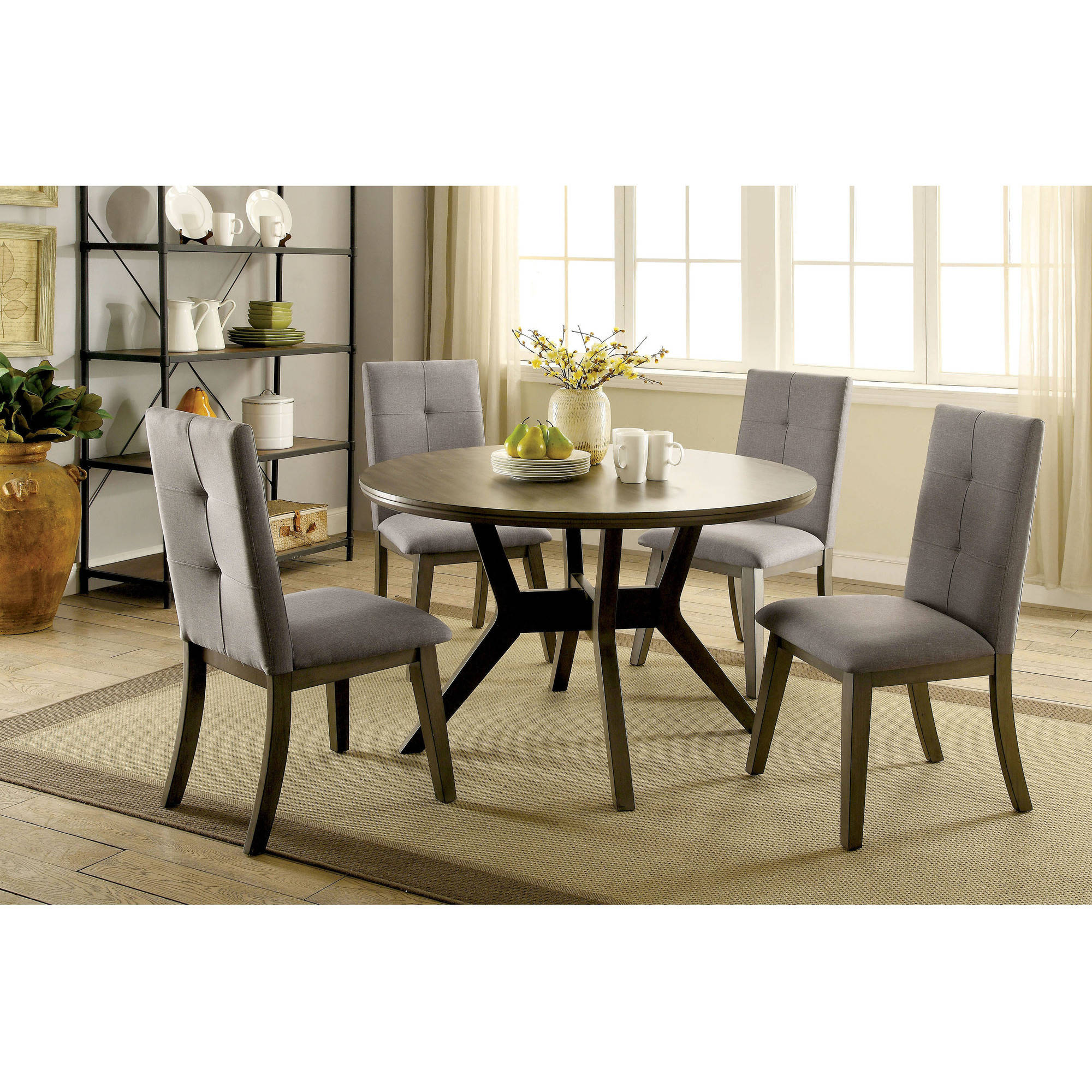 Furniture of America Lailina Mid-Century Round Dining Table