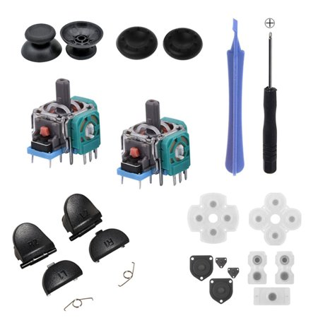Rubber Pad Button Spring Screwdriver Joystick Cap Repair parts For PS4 - image 1 of 4