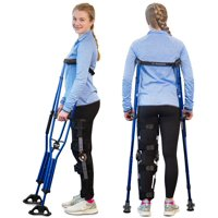 DynamoMe Sport Swing Crutches – Adjustable Lightweight Ergonomic Arm Crutch Is Heavy Duty For Standard And Tall Adults and Kids – Comfortable Pads And Hand Grips For Walking All Day