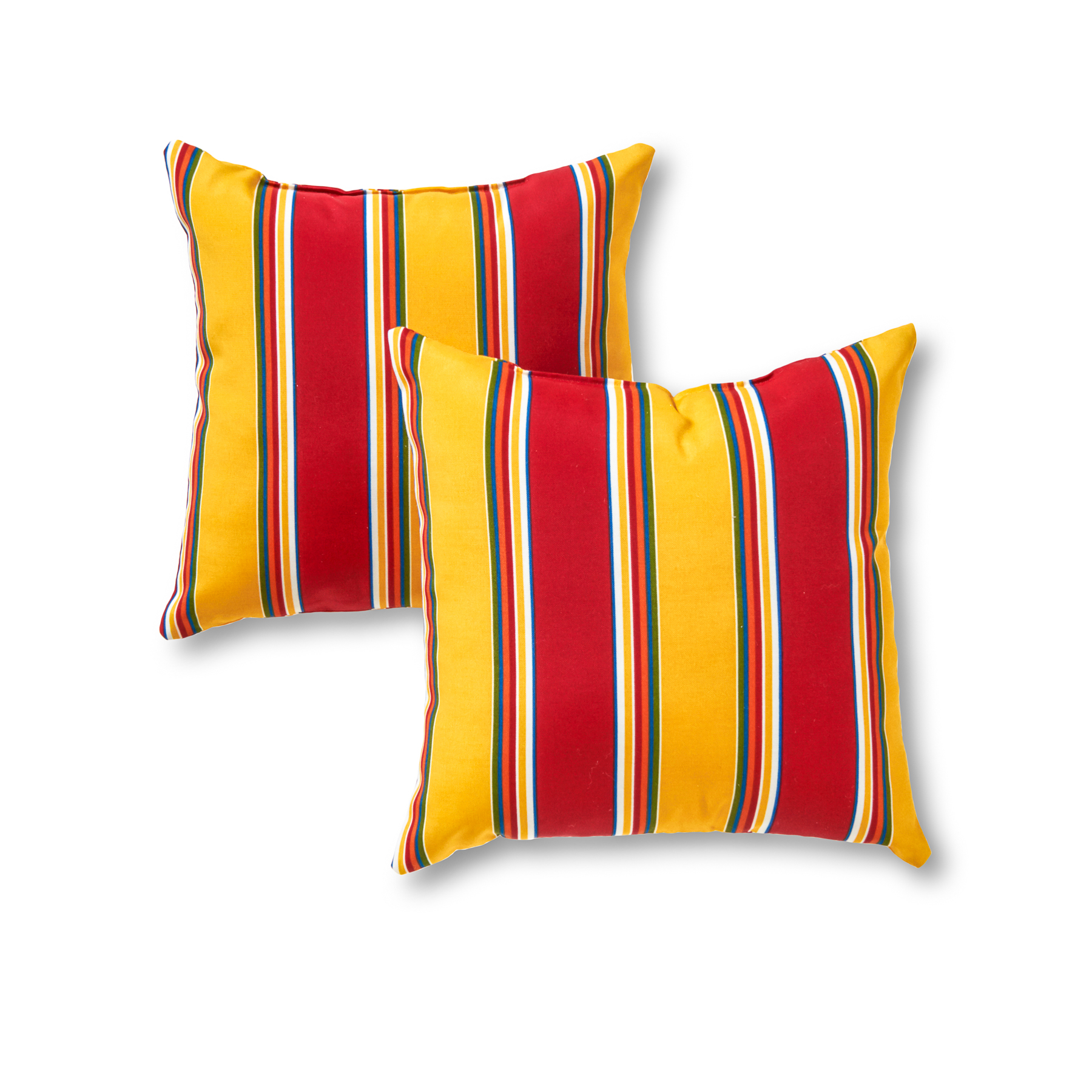 Greendale Home Fashions Carnival Stripe Outdoor Accent Pillow, Set of 2