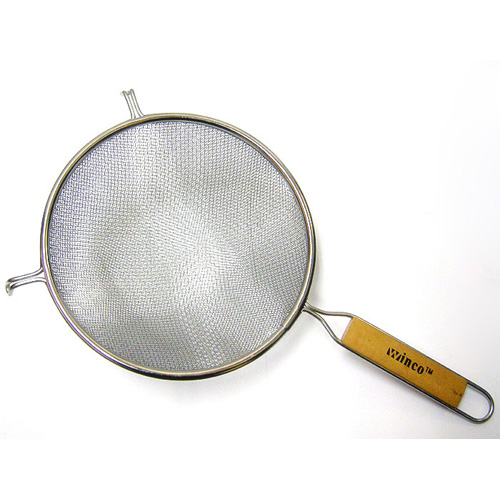 """Winware by Winco Stainless Steel Strainer, Double, 8"""" Diameter"""