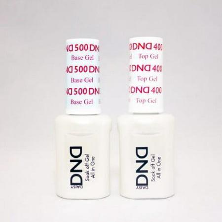 DND Daisy Duo All In One Soak Off Gel Top Coat 400 & Soak Off Gel Base Coat (Ready For Takeoff Peel Off Base Coat)
