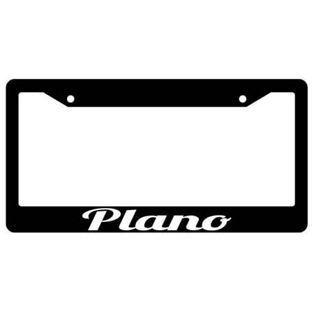 Plano Black Plastic License Plate Frame City - City Of Plano Halloween