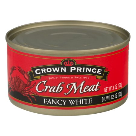 (3 Pack) Crown Prince Fancy White Crab Meat, 6 oz