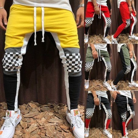 Men Gym Slim Fit Trousers Tracksuit Bottoms Stiped Skinny Joggers Sweat Pants](Joker Suit For Sale)